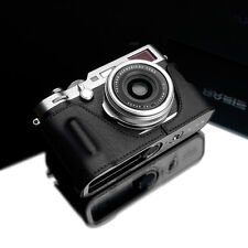 GARIZ HG-X100FBK Genuine Leather Half Case for Fujifilm Fuji X100F Black
