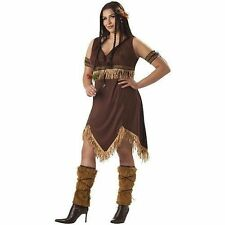 Adult Women Indian Princess Costume Plus Size 2xl Brown  sc 1 st  eBay & Womenu0027s Plus Size Native American Costumes | eBay