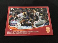 SF GIANTS WORLD SERIES 2012 GAME 4 BUSTER POSEY RED VARIANT TOPPS BASEBALL CARD