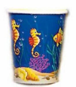 Under the Sea Seahorse Tropical Reef Fish PAPER CUPS - 8 PCS