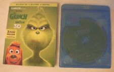 The Grinch (Blu-Ray with Slipcover, 2019) NO COVER ART, 3D DISK OR DIGITAL