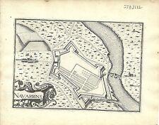 Antique map, Navarrins (Navarrines)