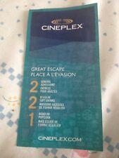Cineplex Great Escape Gift Certificate