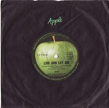 PAUL McCARTNEY & WINGS - LIVE AND LET DIE  Very rare 1972 Aussie Single! EX+
