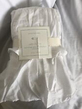 Pottery Barn Kids White Ruffle Crib Toddler Bed Skirt Three Layers Nwt