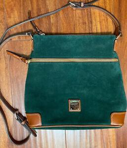 Dooney & Bourke Crossbody Suede Leather Bag Green Nice