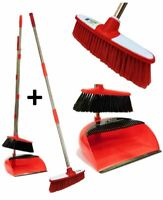 3pc Long Handled Dustpan & Brush Set Soft Indoor Kitchen Sweeping Broom Dust Pan