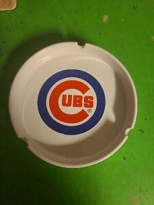 """Chicago Cubs Ceramic Ashtray White 6"""" diameter.MLB 1998  New"""