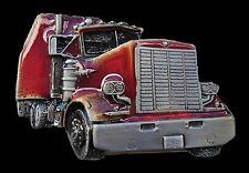 RED 18TH WHEELER TRANSPORT TRUCK TRUCKER RIG BELT BUCKLES BOUCLE DE CEINTURE
