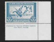 DDF-1 (RW1 50th Anniversary) Ding Darling Stamp-OGNH-RARE LR Inscription Single