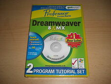 Professor Teaches DREAMWEAVER 8 & MX Pc Cd Rom NEW & SEALED - Fast Dispatch