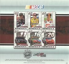 Dominica 2010 - NASCAR Drivers & Their Cars Motor Sports Car Race - Sc 2729 MNH