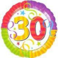 "NEW 18"" Thirty 30 Birthday Metallic Mylar Foil Balloon Anagram"