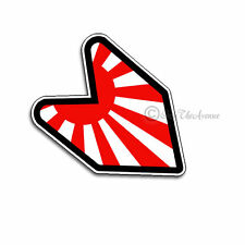 "Japan Japanese  Flag Wakaba Leaf JDM Sticker Decal 4"" Drifting Race (japwak)"