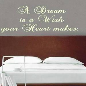 Dream is a wish, heart wall sticker Bespoke Design transfer print