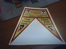 Columbus gumball machines Flag Decal Ball Gum Water Release #82