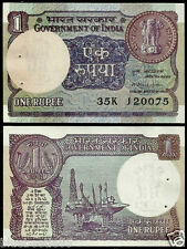 ★  1 Rupee M. Narasimham 'Plain' Inset 1981 ~ UNC ~ A44 ★  bb85
