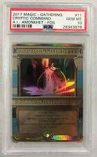 Magic the Gathering CRYPTIC COMMAND AMONKHET INVOCATIONS Foil PSA 10 GEM MT