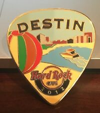 HARD ROCK CAFE DESTIN 2012 POSTCARD GUITAR PICK SERIES PIN LE 100
