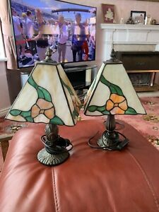 2 x Art Deco Tiffanys Style Table Lamps