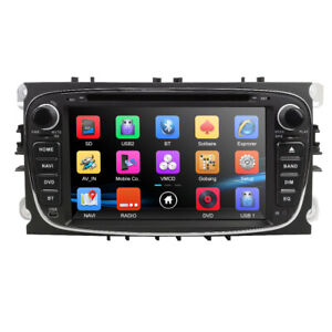 Double 2Din Ford Focus/Mondeo/S-Max Radio Car DVD Player GPS Sat Nav DAB+ 3G BT