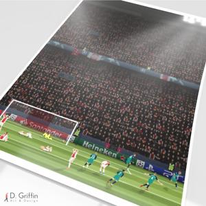 Tottenham Hotspur - Lucas Moura Goal V Ajax Print Poster Picture