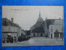 REUILLY  :  Le Café du Centre Place de l' Eglise.......VO.1917.