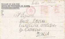 MILITARY : WWI! PRISONER OF WAR POST letter ,in Italian, to Italy-Censor machine