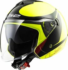 CASCO JET LS2 OF573 TWISTER PLANE H-V YELLOW BLACK TG.M
