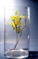 Clear Cylinder Glass Vase  H-45 cm