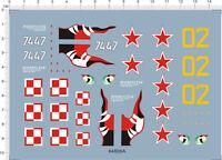 1/72 Scale Antonov AN-2 Colt 74 47 Model kit Eye Shark Jaw Water Slide Decal