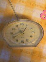 Vintage Smiths 1950s Pink Bedside Alarm Clock
