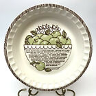 Vintage Royal China Stoneware Apple Pie Recipe Pie Serving Plate 11-Inch