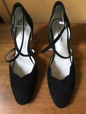 Anna Kern Ballroom Dance Shoes Black Suede US 11  Eur 8 New/Box Original Owner