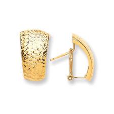 Pendientes de joyería de metales preciosos sin piedras omegas de oro amarillo