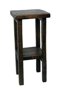 Distressed oak Barn wood style Plant Stand / End Table - Amish Made