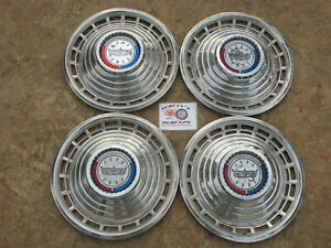 "1963 FORD GALAXIE 500 14"" WHEEL COVERS, HUBCAPS, SET OF 4"