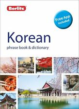 Berlitz Phrase Livre & Dictionary coréen dernière édition