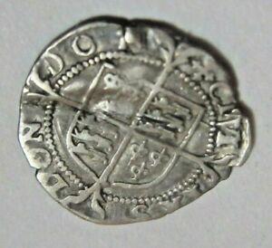 Elizabeth I Silver Coin Undated Weight 0.68 g Diameter 1.3 cms !