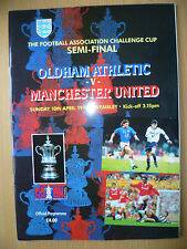 1994 FA CUP SEMI FINAL Programme: OLDHAM ATHLETIC v MANCHESTER UNITED