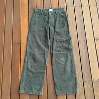 Timberland Size 14 Rugged Outdoor Womens Cord Pants Green Cargo Casual