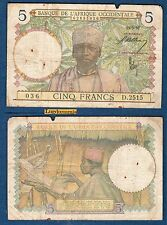 Afrique Occidentale - 5 Francs Type 1934 - 15/3/1937 D.2515
