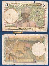 Afrique Occidentale - 5 Francs Type 1934 - 15/3/1937 D.2515