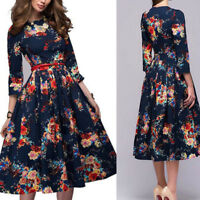Women's Casual Swing Dress Floral Dress Plus Size Formal Cocktail Evening Party