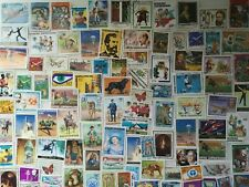 600 Different Central African Republic Stamp Collection