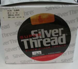 Bagley ZSST2003000 20 Lb Super Silver Thread  Copolymer Line 3000 Yd Clear 14818