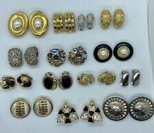 Vintage Designer Clip Earrings LOT Christian Dior Givenchy Whiting Davis KJL