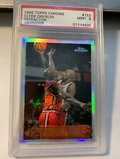 1996 Topps Chrome Clyde Drexler #192 Rockets Refractor PSA 9 Mint SET BREAK!