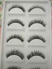 5 pairs nature long false faux eyelashes reusable makeup extension