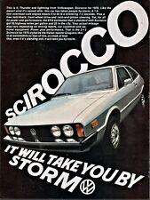 1975 VOLKSWAGEN VW Scirocco Vintage  Car Photo AD